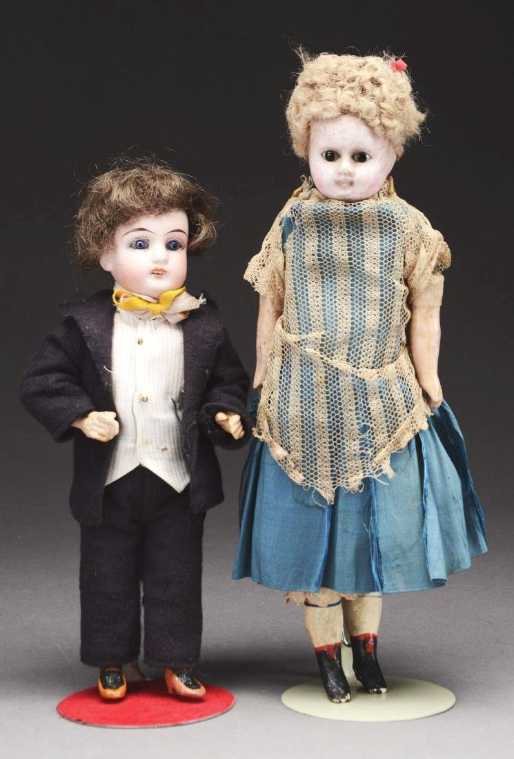 Lot Of 2: Antique Dolls.