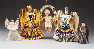 Lot Of 5 Angels Ornaments