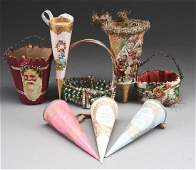 Lot Of 8: Christmas Candy Containers.
