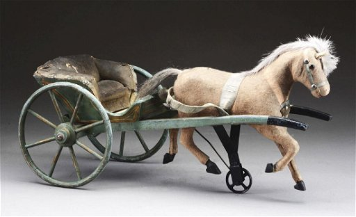 Victorian Horse & Carriage Toy