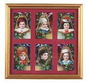Framed Set Of Six Christmas Post Cards
