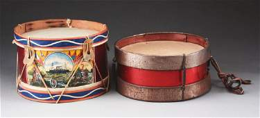 Lot of 2 Toy Drums