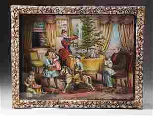 Schoenhut Christmas Clockwork Picture 1880.