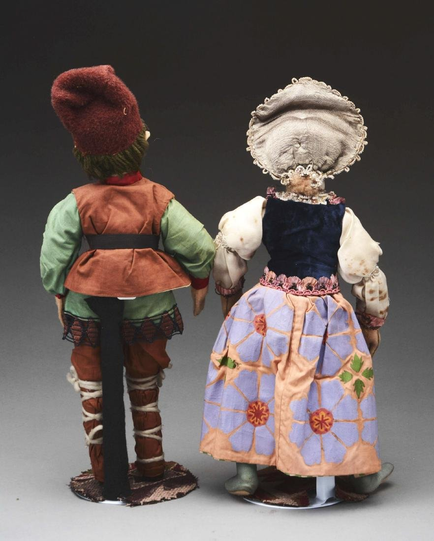 Lot Of 2: Cloth Dolls. - 2