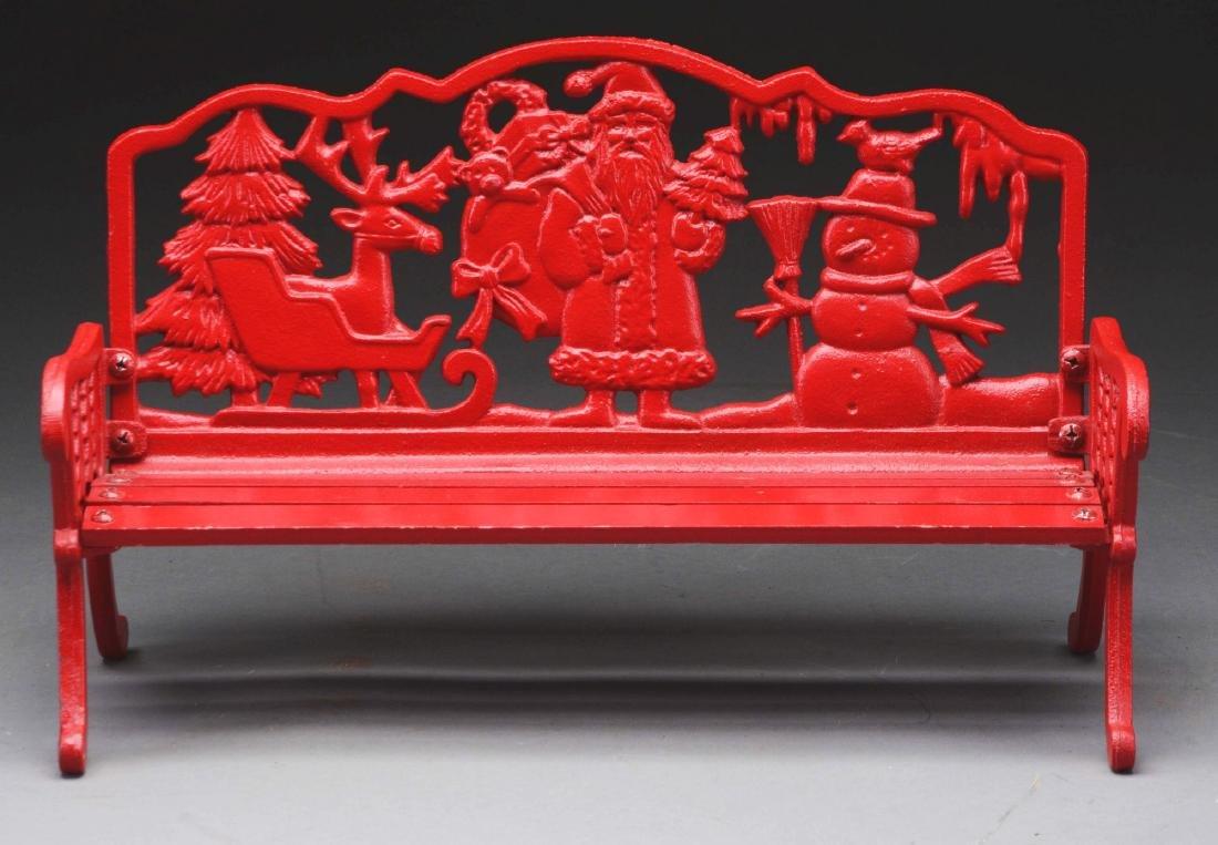 Red Santa Bench.