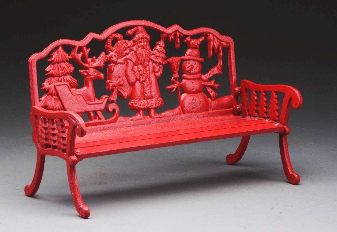 Red Santa Bench. - 2