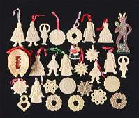 Lot Of Wax Christmas Ornaments