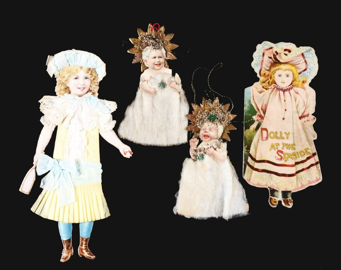 Lot of 4: Die-Cut Ornaments and Children's Book.