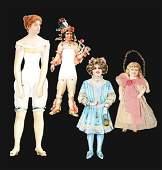 Lot of 4: Paper Dolls.