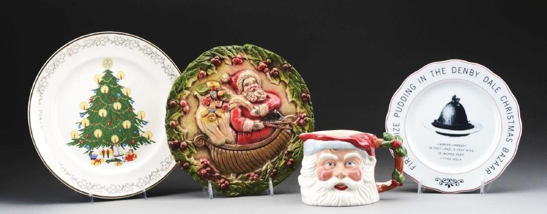 Lot Of 4: Christmas Plates & Mug.