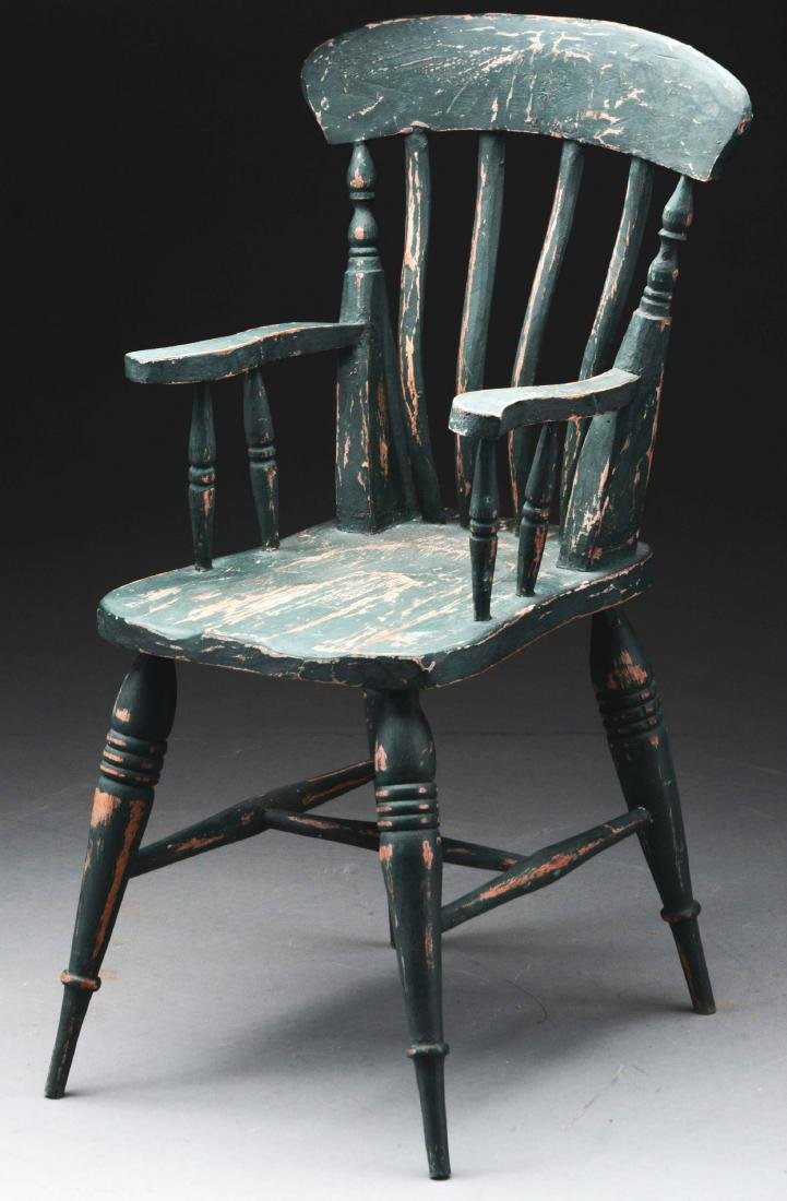 Large Scale Green Doll Chair. - 2