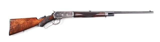 (C) Rare Deluxe Winchester Model 1886 .38-70 Lever
