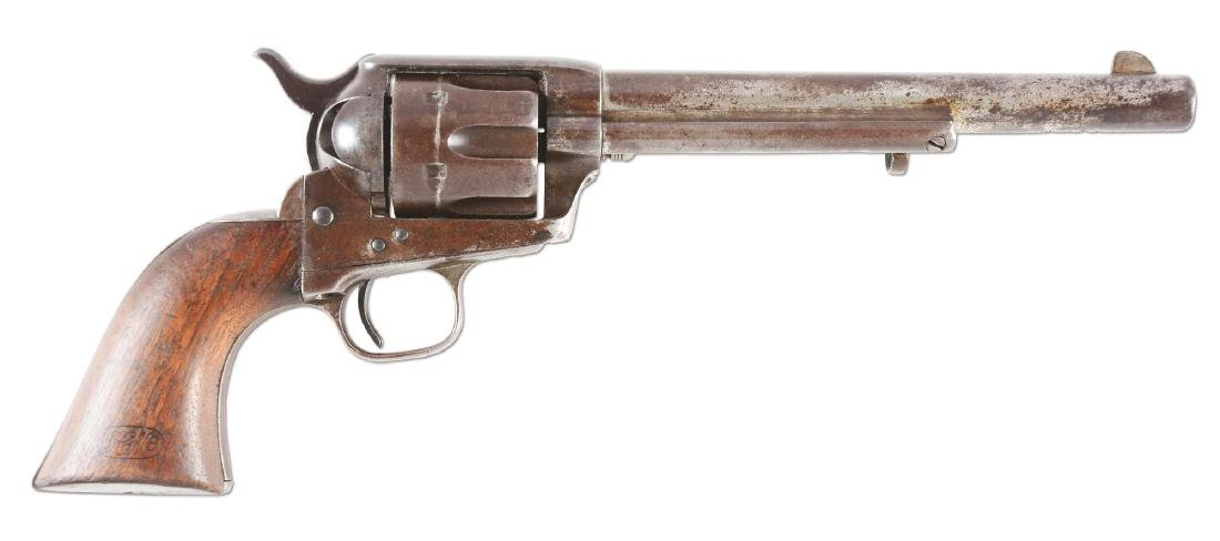 (A) US Colt Cavalry Single Action Army Revolver with