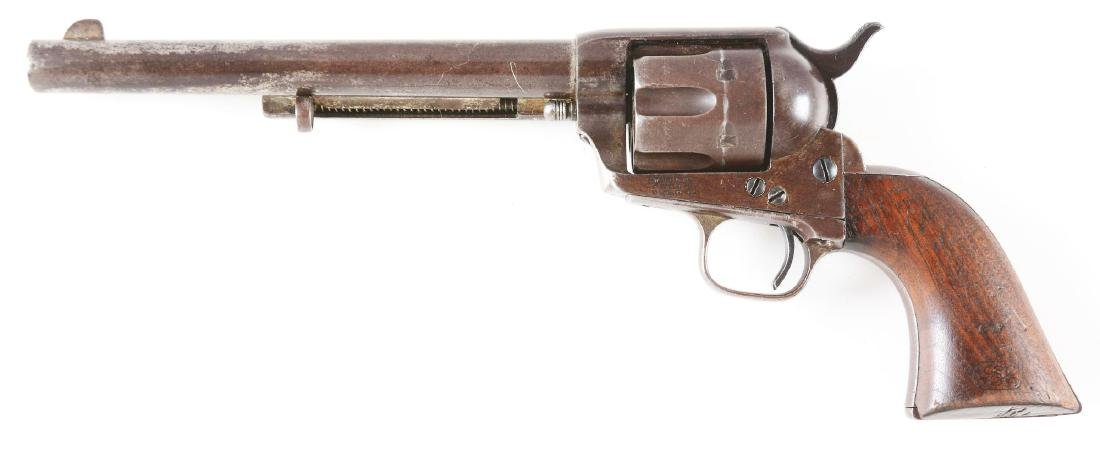 (A) US Colt Cavalry Single Action Army Revolver with - 2