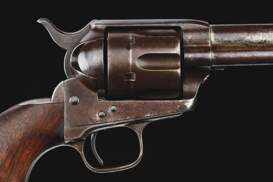 (A) US Colt Cavalry Single Action Army Revolver with - 3