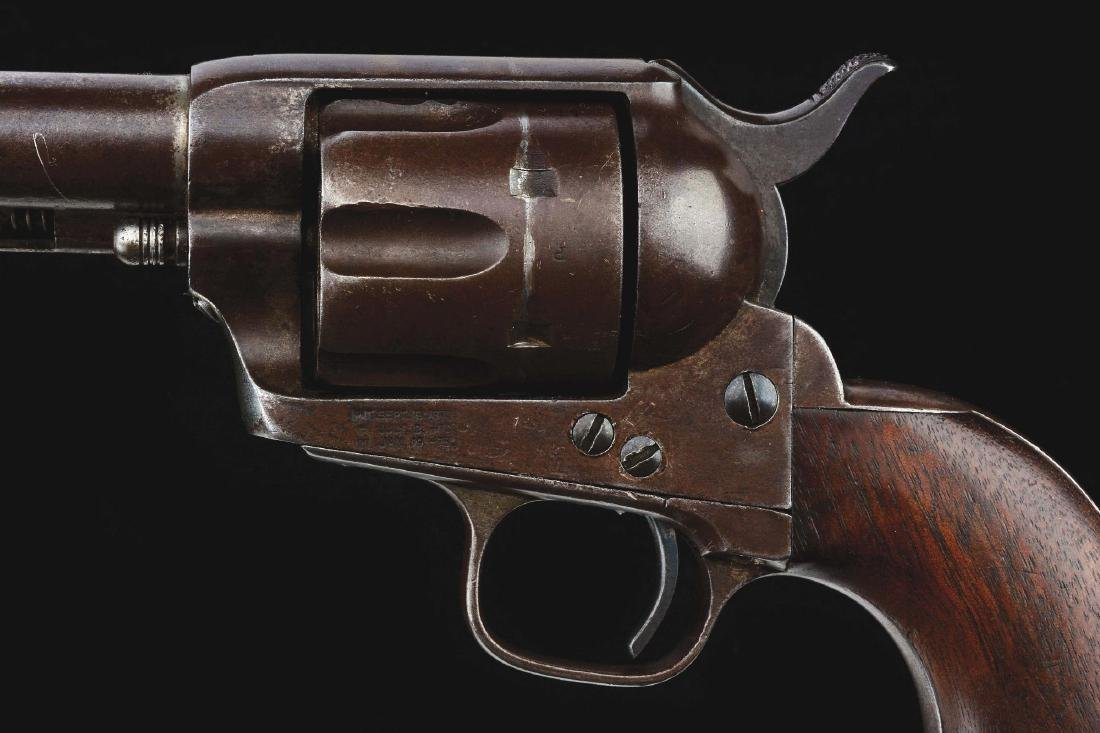 (A) US Colt Cavalry Single Action Army Revolver with - 4
