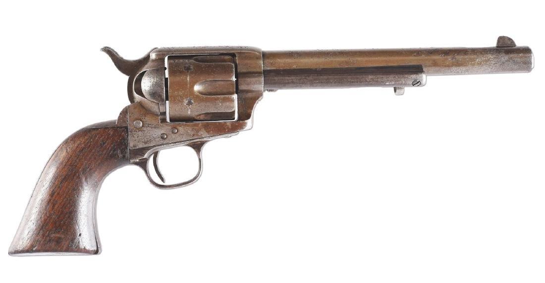 (A) Custer Era Colt Single Action Army Cavalry Revolver