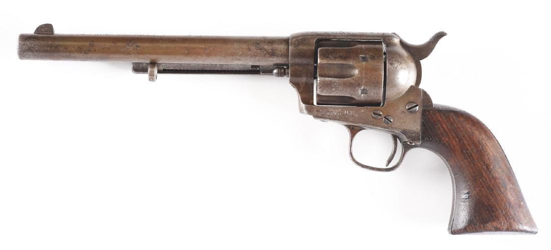 (A) Custer Era Colt Single Action Army Cavalry Revolver - 2