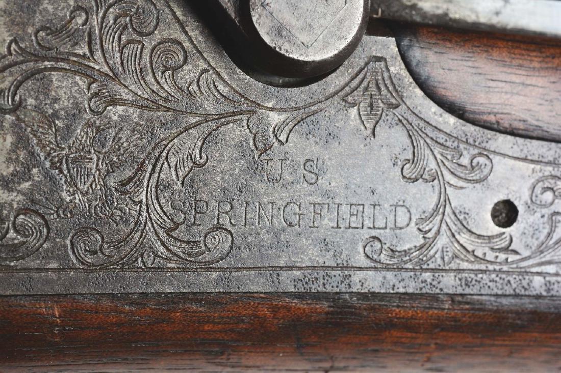 (A) Springfield 1875 Trapdoor Officers Model Single - 8