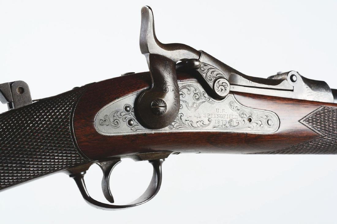 (A) Engraved Springfield 1875 First Model  Officers - 7