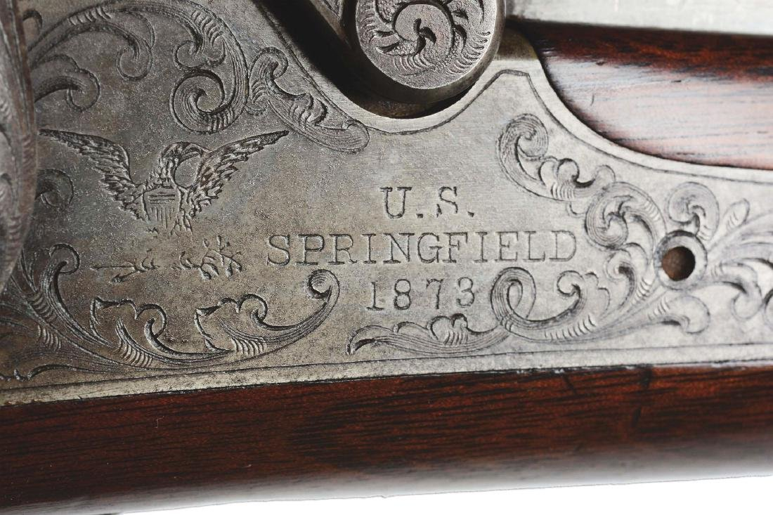 (A) Engraved Springfield 1875 First Model  Officers - 8