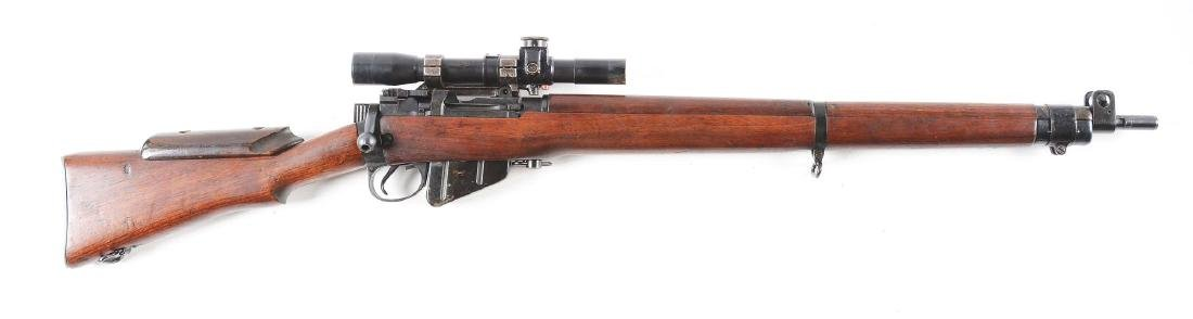 (C) Cased Enfield Bolt Action Sniper Rifle. - 10