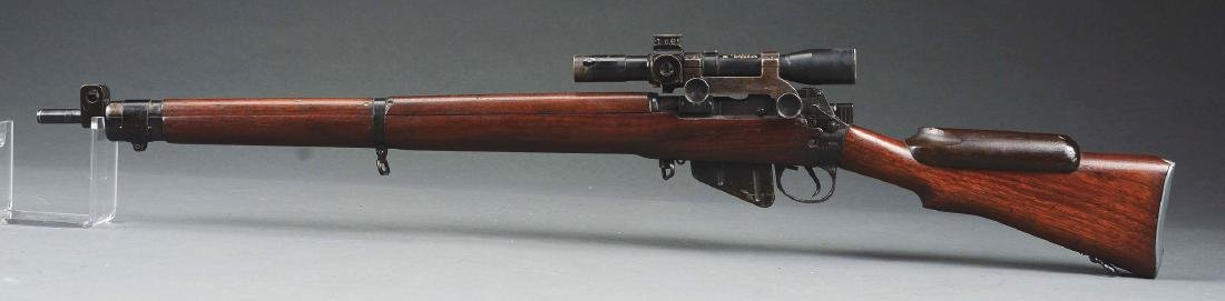 (C) Cased Enfield Bolt Action Sniper Rifle. - 2