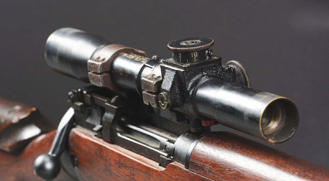 (C) Cased Enfield Bolt Action Sniper Rifle. - 7