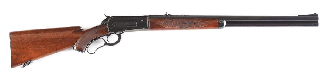 (C) Custom Winchester Model 71 Lever Action Rifle