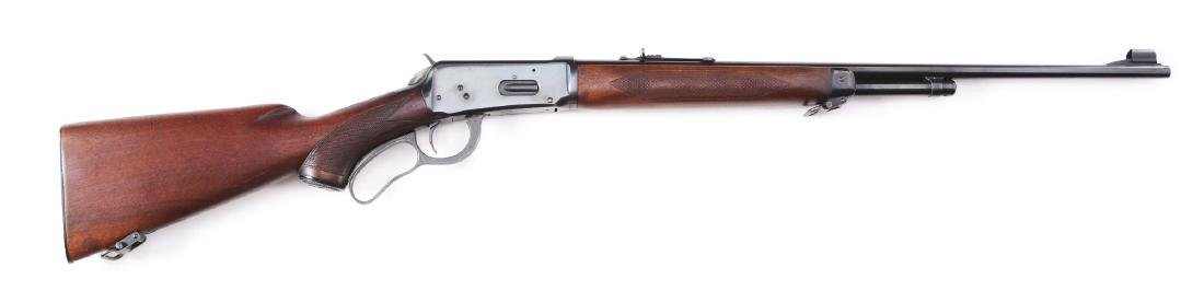 (C) Winchester Deluxe Model 64 Lever Action Rifle
