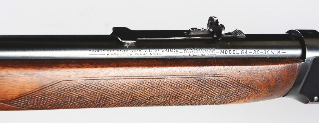 (C) Winchester Deluxe Model 64 Lever Action Rifle - 7