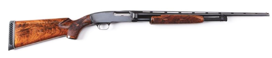 (C) Winchester Model 42 Deluxe Simmons Rib Shotgun.