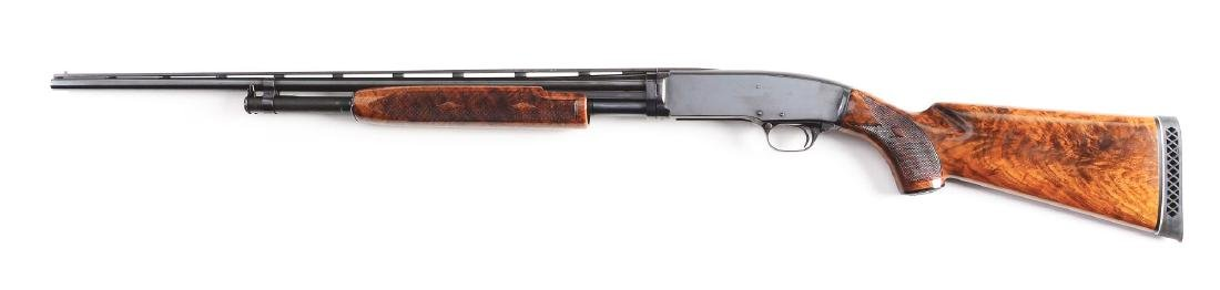 (C) Winchester Model 42 Deluxe Simmons Rib Shotgun. - 2