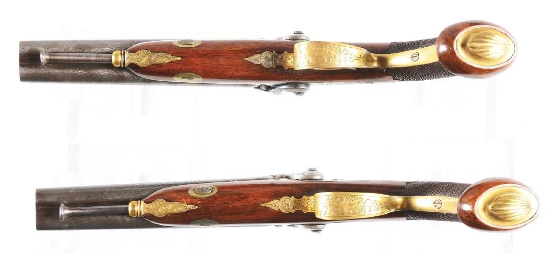 (A) Good & Elaborate Cased Set of Double Barrel Belgian - 5