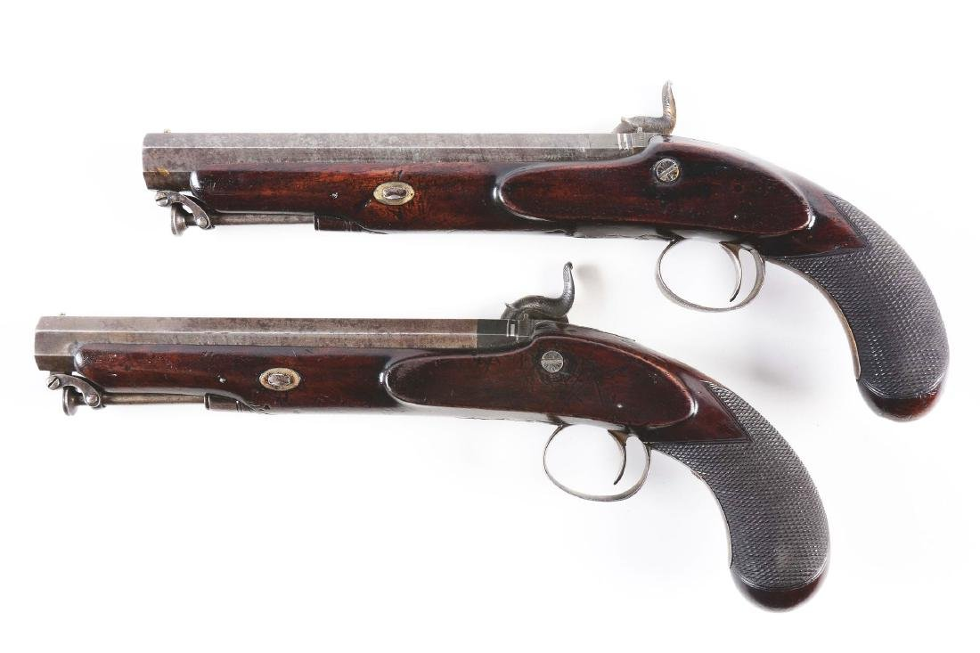 (A) Cased Pair of English Percussion Officer's Pistols - 4