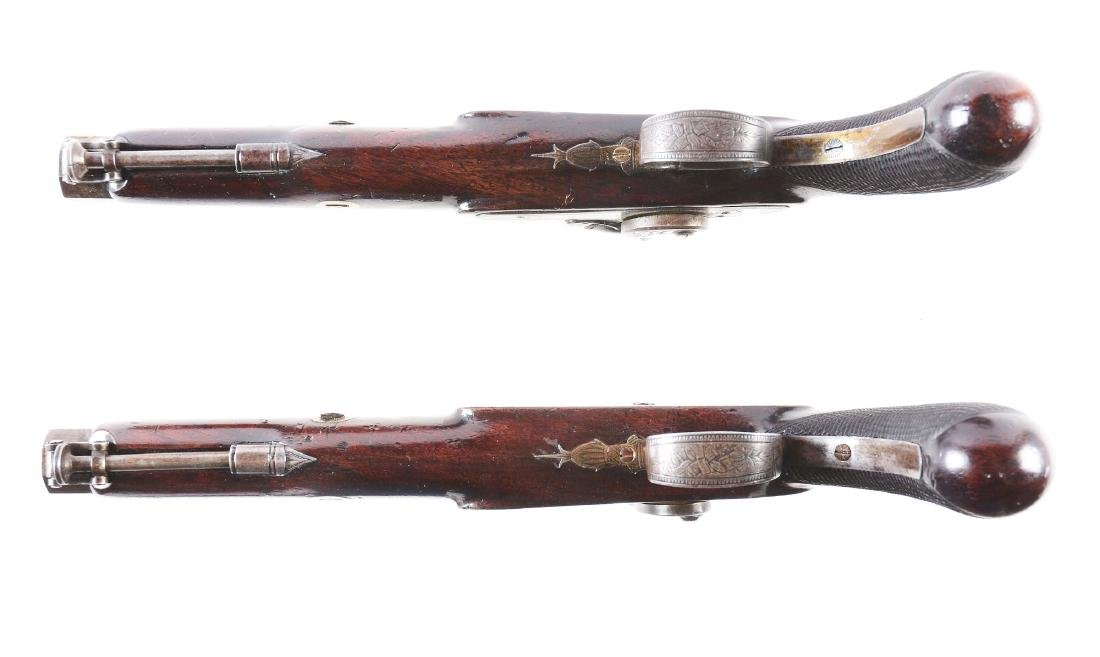 (A) Cased Pair of English Percussion Officer's Pistols - 5