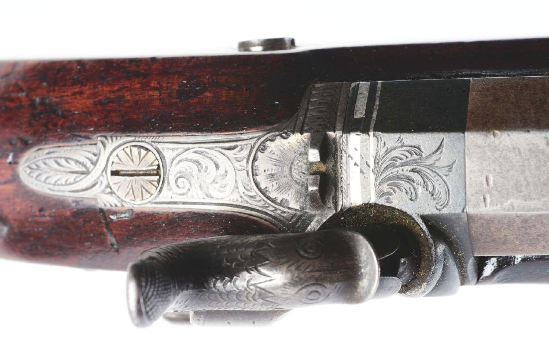(A) Cased Pair of English Percussion Officer's Pistols - 7