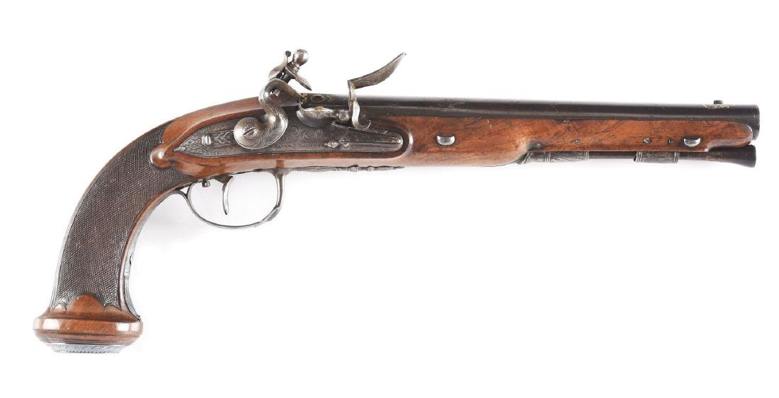 (A) French Flintlock Pistol by Cheret.