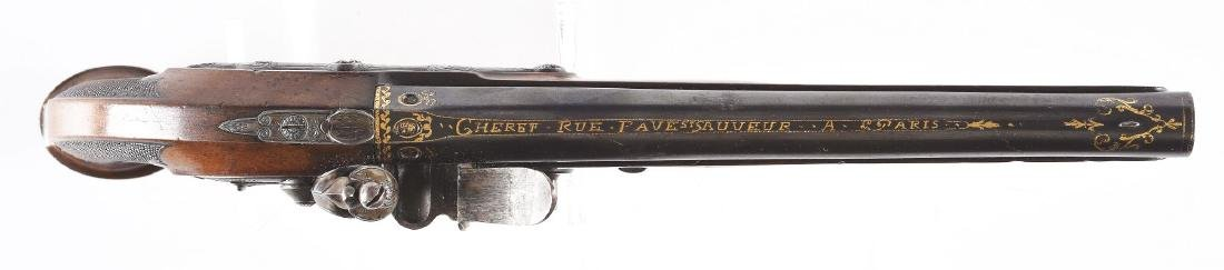 (A) French Flintlock Pistol by Cheret. - 3