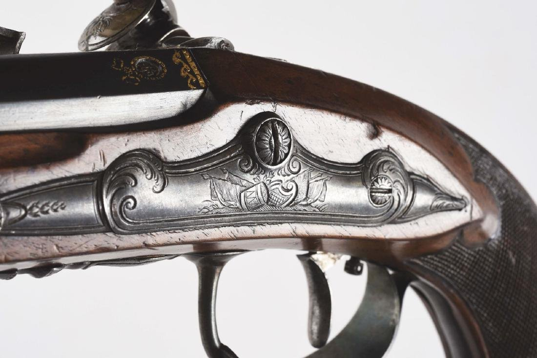(A) French Flintlock Pistol by Cheret. - 8