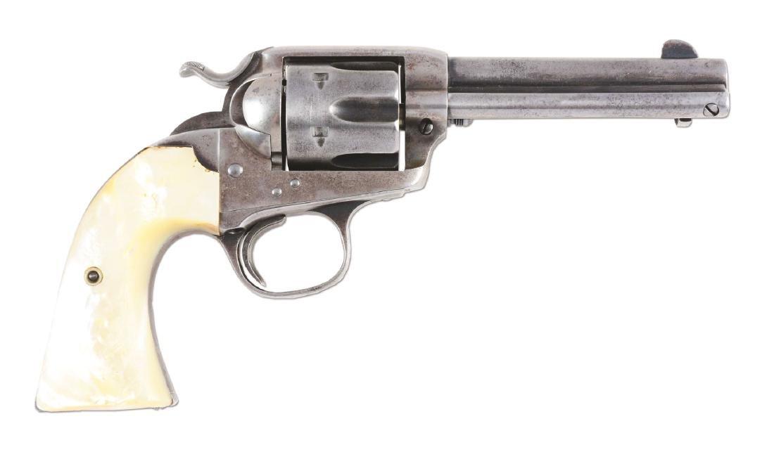(C) Colt Bisley Single Action Army Revolver (1907).