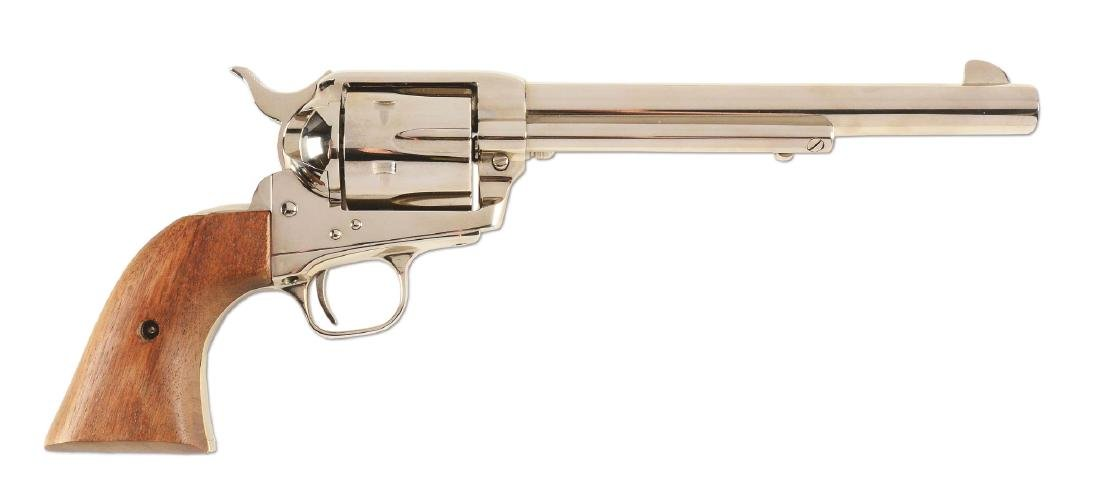 (M) Nickel Colt Single Action Army Revolver (1977).