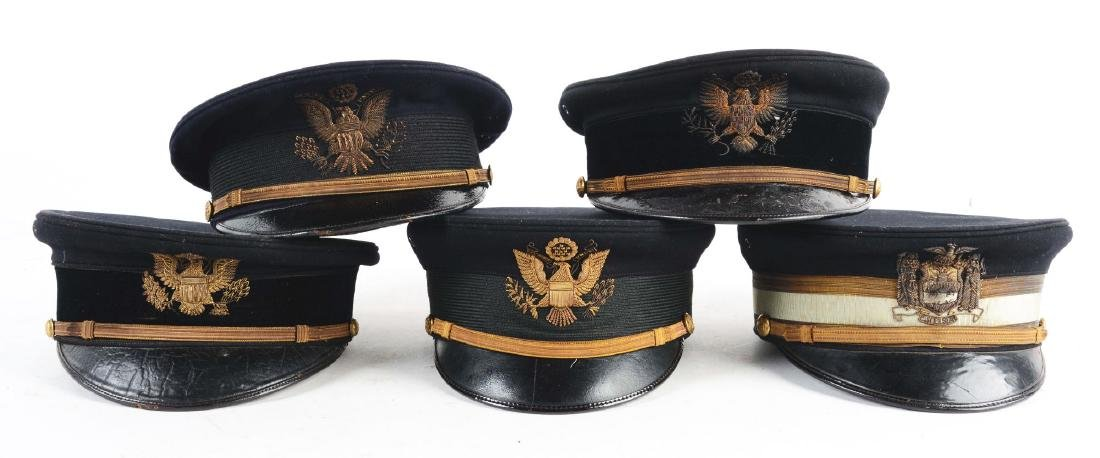 Lot Of 5: U.S. Model 1902 & Model 1912 Visor Caps.