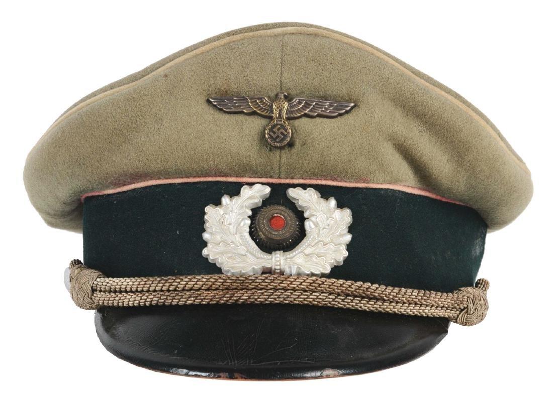 German WWII Heer Infantry Officer Visor.