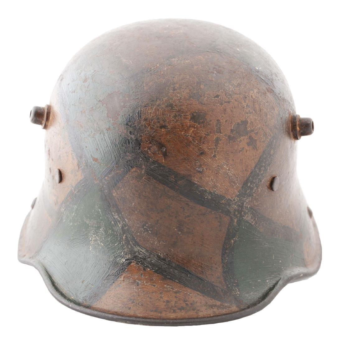 German WWI Camouflage M17 Helmet.