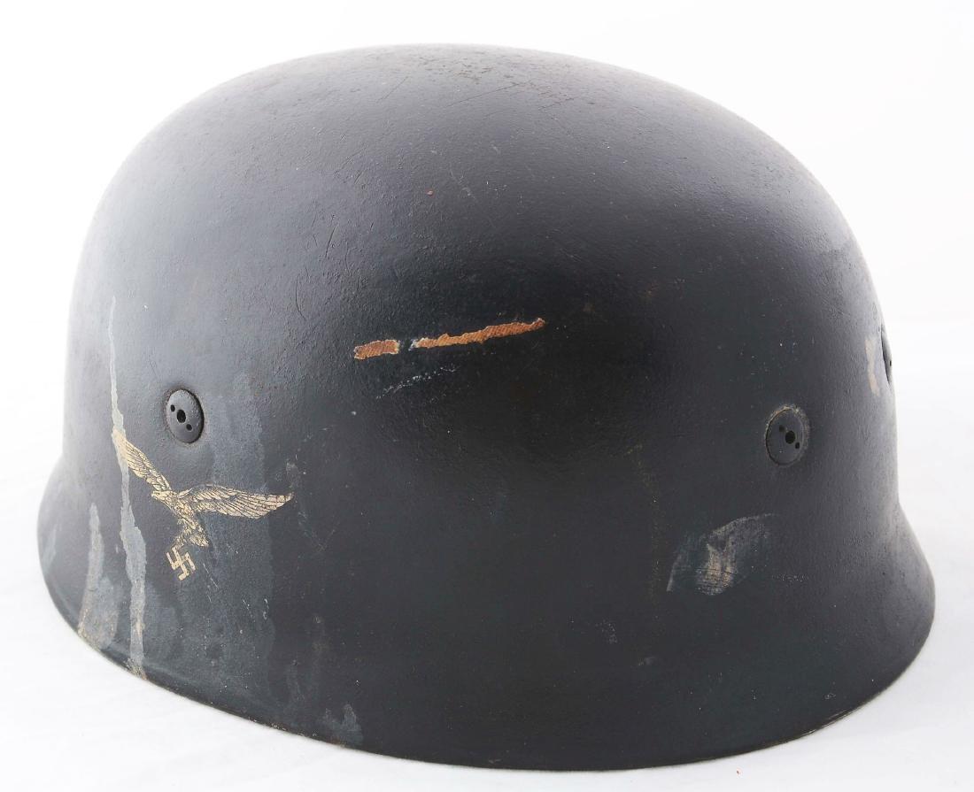 German WWII Repainted M38 Paratrooper Helmet Shell. - 3