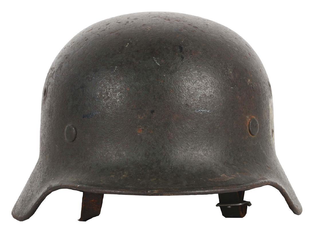 German WWII Heer M40 Single Decal Helmet.