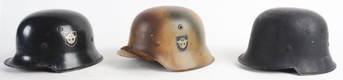 Lot of 3: German WWII Civil & Military Helmets. - 3