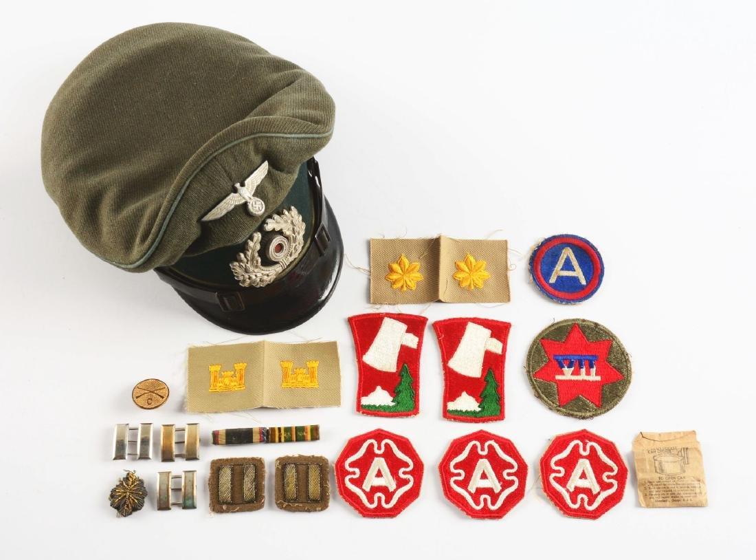 WWII German Transport EM/NCO Visor Cap & US Veteran