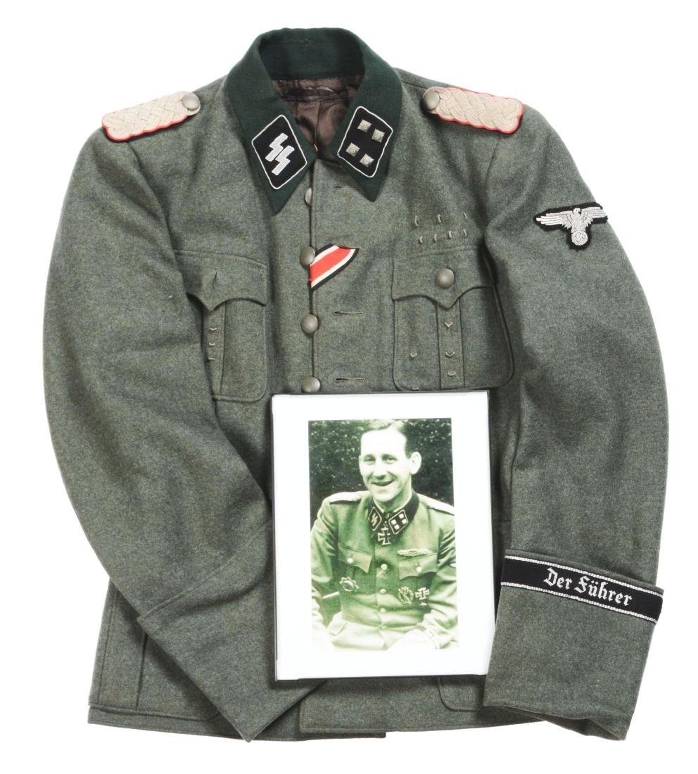 "German WWII ""Deutschland"" SS Officer's Tunic."